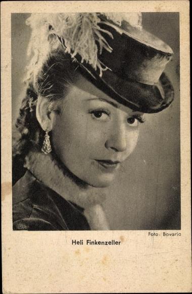 Ak Schauspielerin Heli Finkenzeller, Portrait, Hut