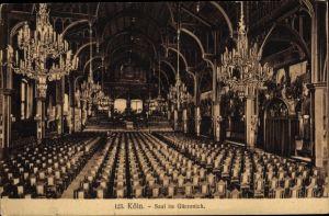 Ak Köln am Rhein, Saal im Gürzenich, Kronleuchter