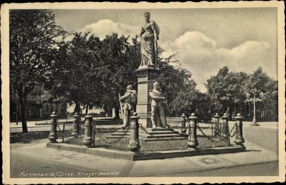 Ak Fürstenwalde an der Spree, Kriegerdenkmal
