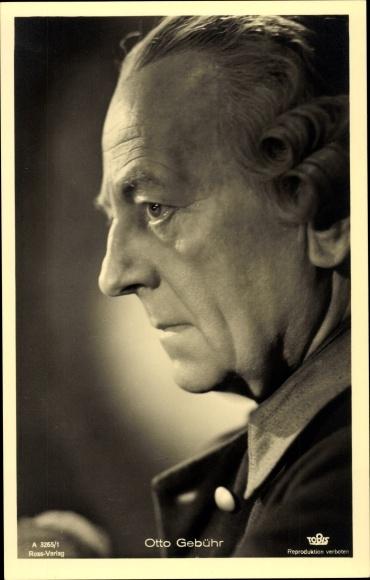 Ak Schauspieler Otto Gebühr, Portrait