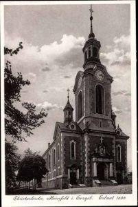 Ak Grünhain Beierfeld im Erzgebirge Sachsen, Christuskirche