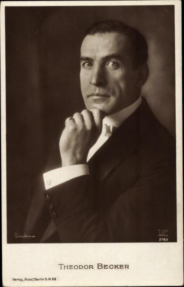 Ak Schauspieler Theodor Becker, Portrait