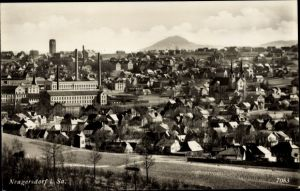 Ak Ebersbach Neugersdorf, Stadtpanorama, Fabrik
