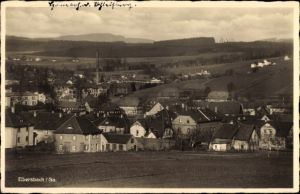 Ak Ebersbach Neugersdorf, Wohnhäuser, Fabrik