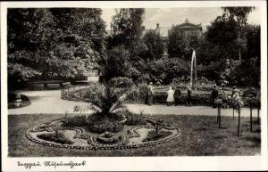 Ak Opava Troppau Reg. Mährisch Schlesien, Museumspark