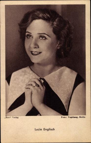 Ak Schauspielerin Lucie Englisch, Portrait