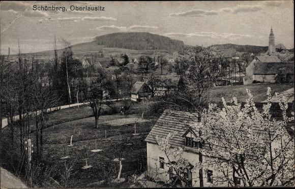 Ak Sulików Schönberg Schlesien, Panorama vom Ort