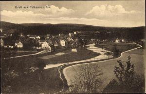 Ak Falkenau Flöha in Sachsen, Totalansicht vom Ort