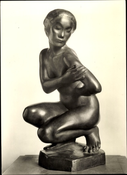 Ak Plastik, Georg Kolbe, Japanerin, Frauenakt