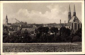 Ak Görlitz in der Lausitz, Teilansicht mit Peterskirche