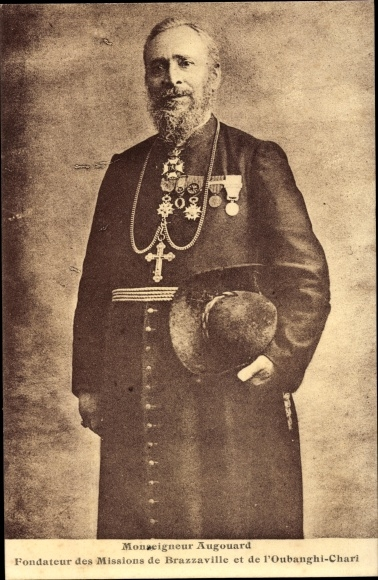 Ak Französisch Kongo, Monseigneur Augouard, portrait, Fondateur des Missions de Brazzaville