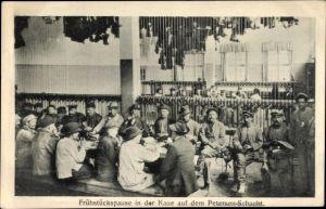 Ak Sondershausen, Gewerkschaft Glückauf, Frühstückspause, Petersen Schacht