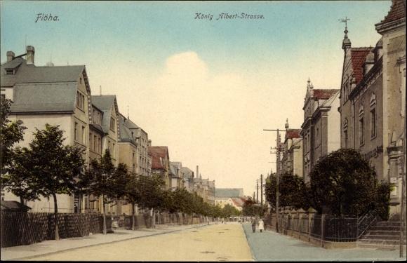 Ak Flöha in Sachsen, König Albert Straße