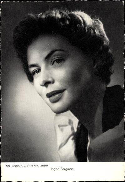 Ak Schauspielerin Ingrid Bergman, Portrait
