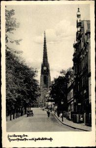 Ak Freiberg in Sachsen, Hornstraße, Jakobikirche