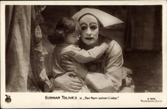 Ak Schauspieler Gunnar Tolnaes, Filmszene Der Narr seiner Liebe