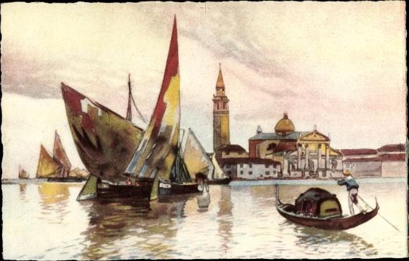 Künstler Ak Venedig Veneto, Insel San Giorgio Maggiore