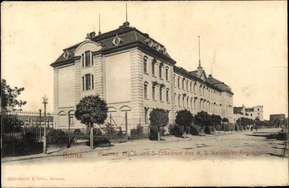 Ak Borna in Sachsen, Kaserne d. 3. u. 5. Eskadron d. K. S. Karabinier Regiments