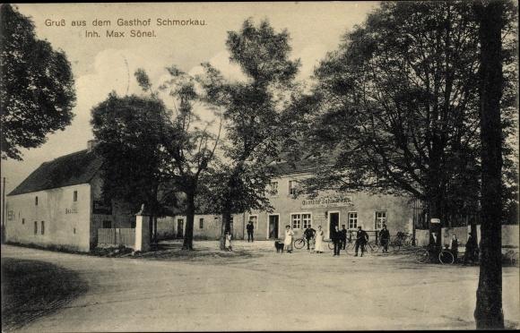Ak Schmorkau Neukirch Sachsen, Gasthof Schmorkau, Außenansicht
