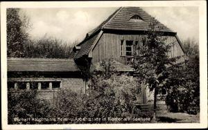 Ak Kloster Hiddensee Ostsee, Gerhart Hauptmanns Heim- u. Arbeitsstätte, Haus, Außenansicht