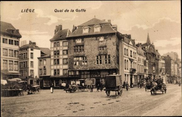 Ak Liège Lüttich Wallonien, Quai de la Goffe