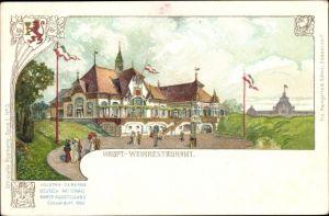 Litho Düsseldorf am Rhein, Industrie- Gewerbe- Deutsch Nationale Kunst- Ausstellung 1902