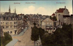 Ak Radeberg in Sachsen, Dresdner Straße, Neue Realschule, Kaiserhof