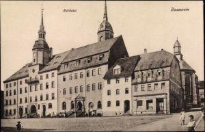 Ak Roßwein in Sachsen, Rathaus, Klosterkeller, Wäscherei