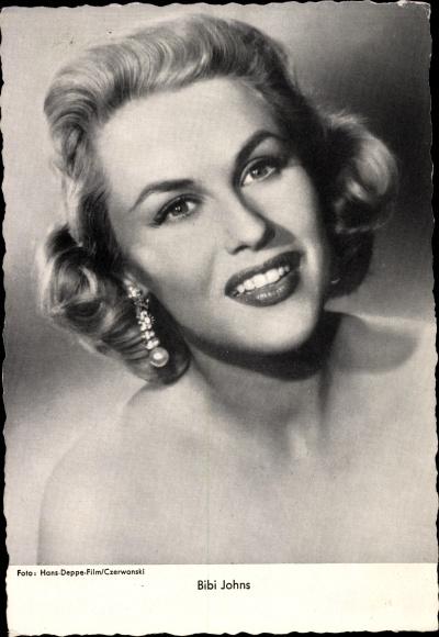 Ak Sängerin Bibi Johns, Portrait