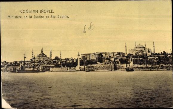 Ak Konstantinopel Istanbul Türkei, Ministère de la Justice et Sainte Sophie