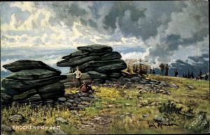 Künstler Ak Thomas, Paul, Brocken Nationalpark Harz, Felspartie