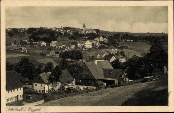 Ak Jöhstadt im Erzgebirge Sachsen, Totalansicht von Ort