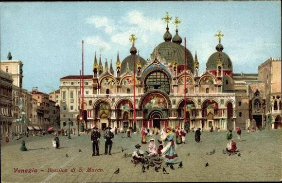 Ak Venezia Venedig Veneto, Basilica di S. Marco, Markusdom