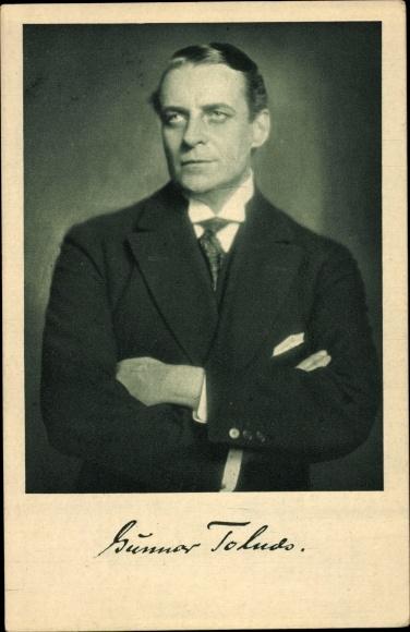 Ak Schauspieler Gunnar Tolnæs, Portrait