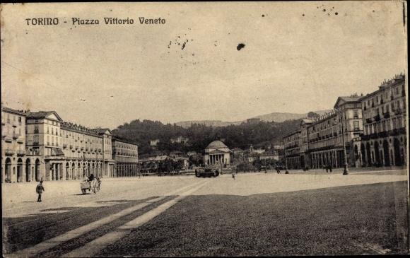 Ak Torino Turin Piemonte, Piazza Vittorio Veneto