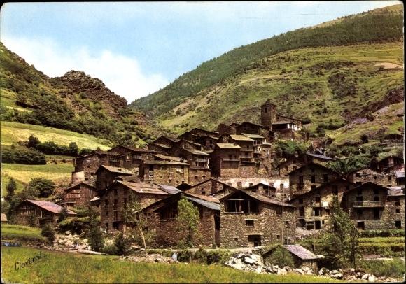 Ak Sant Julià de Lòria Andorra, Ortsansicht