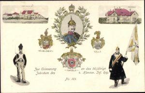 Ak Hameln in Niedersachsen, 90jh Jubiläum 4. Hannov. Inf. Regt Nr 164, Kaiser Wilhelm II.