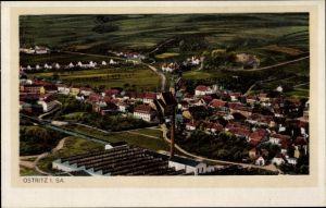 Ak Ostritz in der Oberlausitz, Panorama vom Ort