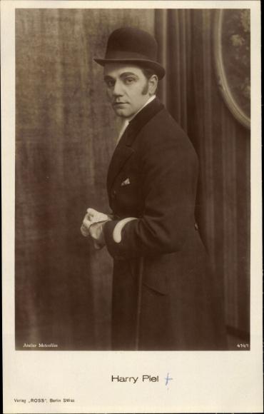 Ak Schauspieler Harry Piel, Portrait, Ross Verlag 414 1