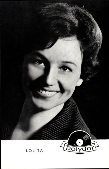 Ak Sängerin Lolita, Portrait, Polydor Schallplatten
