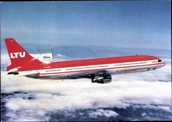 Ak Deutsches Passagierflugzeug LTU TriStar Lockheed L 1011-1, D-AERP