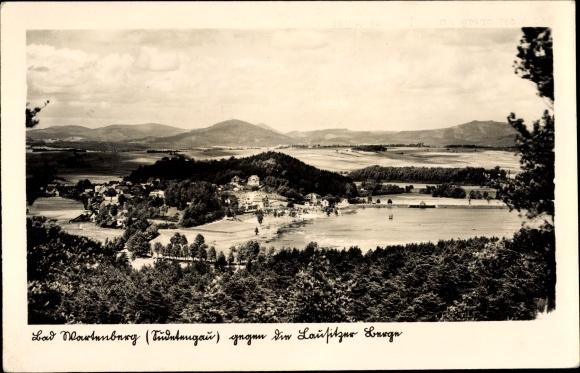 Ak Stráž pod Ralskem Bad Wartenberg am Roll Region Reichenberg, Panorama, Lausitzer Berge