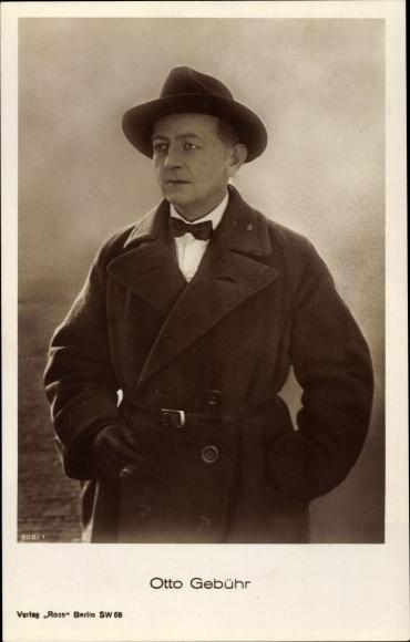 Ak Schauspieler Otto Gebühr, Portrait in Hut