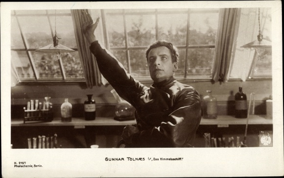 Ak Filmszene aus Das Himmelsschiff, Schauspieler Gunnar Tolnaes