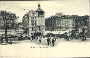 Ak Genève Genf Stadt, Place Bel Air