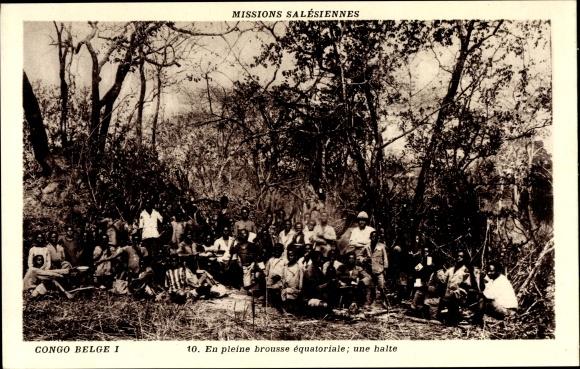 Ak Demokratische Republik Kongo, Mission Salésiennes, En pleine brousse équatoriale