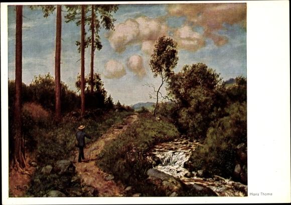 Künstler Ak Thoma, Hans, Der Wanderer