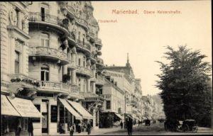 Ak Mariánské Lázně Marienbad Reg. Karlsbad, Obere Kaiserstraße, Fürstenhof
