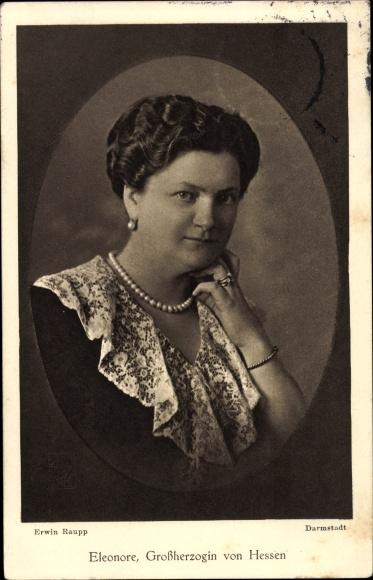 Ak Eleonore zu Solms Hohensolms Lich, Großherzogin von Hessen, Portrait