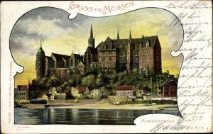 Passepartout Ak Meißen in Sachsen, Albrechtsburg